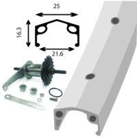 Damco - Roue Arrière 26po Alliage Rétropédalage Paroi simple Coaster brake back wheel
