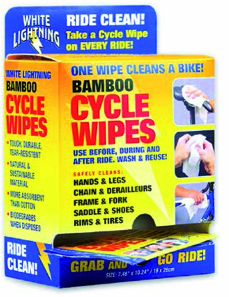 White lightning - Bamboo cycle wipes